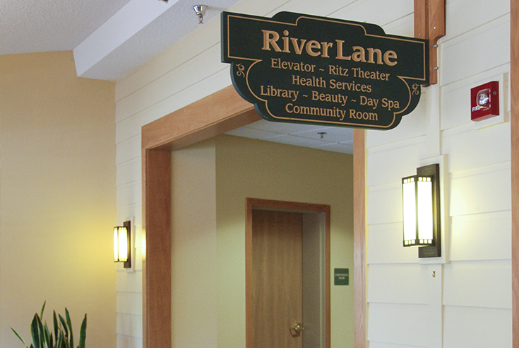 RiverVillage East Directory Sign